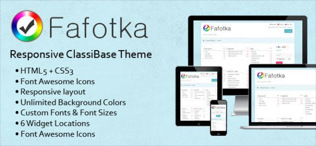 Fafotka Responsive Classifieds Theme