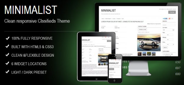 Minimalist Responsive Classifieds Theme