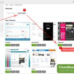 How install classifieds theme on Classibase - step by step tutorial