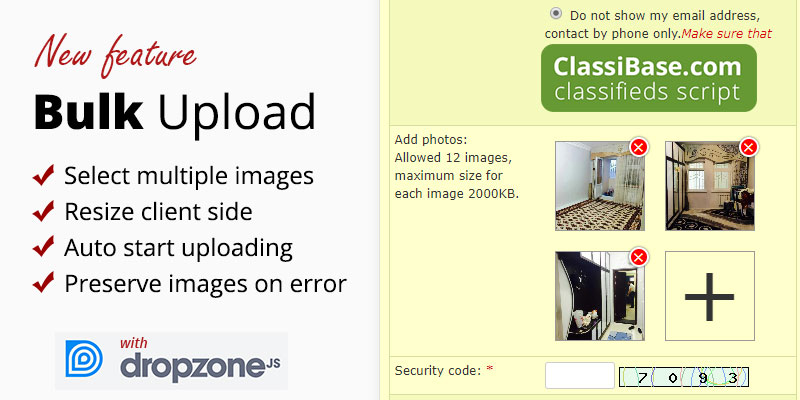 Bulk upload in Classibase classifieds script version 1.9