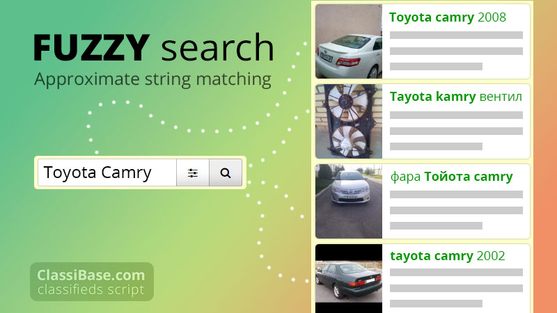 fuzzy search classifieds script